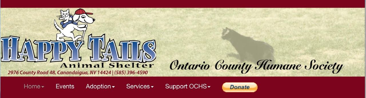 The Ontario County Humane Society website.